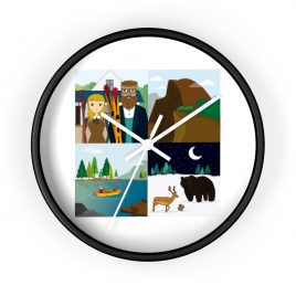 Yosemite 4-square wall clock