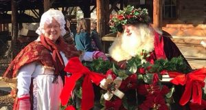 Father Christmas and his Mrs. at Fresno Flats