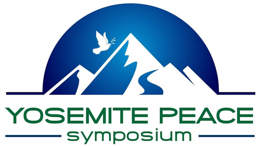 Yosemite Peace Symposium Logo - Mountains and Peace Dove