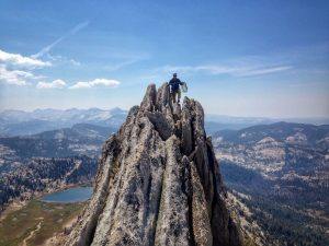 Climber Tom Clancey takes a stroll through the Tuolumne skyline at Yosemite. Photo courtesy of Lena Chang