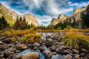To showcase the various aesthetic aspects of Yosemite Valley